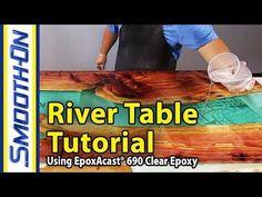 Rheinperle Treibholz DriftWood Epoxidharz Epoxy Resin Artwork Woodworking ToSaLignea - YouTube