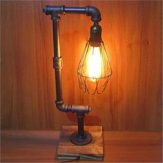 Vintage Edison personality industrial retro adjustable tube table lamp