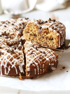 Chocolate Chip Coffee Cake with Brown Butter Streusel