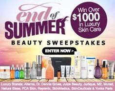 End Of Summer Beauty Sweepstakes : Win Over $1,000 in Luxury Skin Care Products! via  http://virl.io/rAzmafwL