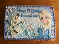 Frozen Birthday Sheet Cake Ideas Frozen sheet cake