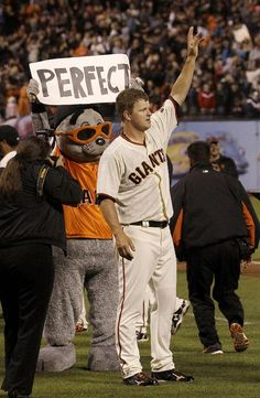 Cain pitches first perfecto for Giants - Yahoo! News