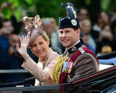 Trooping the Colour 2013: The Earl and Countess of Wessex