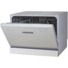 Countertop Dishwasher in Silver with 6 wash cycles-SD-2201S at The Home Depot