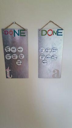 Chore charts!