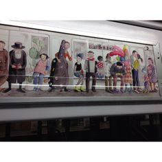 NYC subway art (Section 3/3) by Sophie Blackall. Yes I was worried my iPhone would be grabbed.