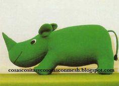 Blog do passo a passo: rinocerontes feltro tecido e.v.a passo a passo pap...