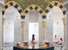 Talise Ottoman Spa, Dubai, United Arab Emirates. The biggest hammam in the Middle East—plus separate ladies' and gentlemen's spas, a couples' spa, and treatments ranging from 30-minute facials to four-hour rituals using Aromatherapy Associates and Kerstin Florantin products.
