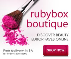 Sign up with Rubybox now and for only R119 a month you will get an elegant box delivered to you containing a selection of samples from top cosmetic and beauty brands – making this the ideal try before you buy opportunity. Each box contains products to the value of at least R250.  Once you have used all of the top-quality samples and decided which your favourites are, you can order the full-sized versions directly from the Rubybox online store.
