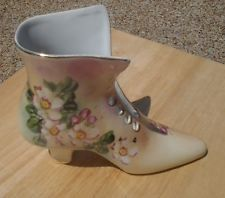 Limoges Victorian woman boot figurine shoe 6