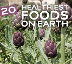 20 Healthiest Foods On Earth: Benefits, How Much, How Often for: Spinach, Goji Berries, Wild Alaskan Salmon, Avocado, Quinoa, Broccoli, Almonds Beets, Sweet Potatoes, Tomatoes, Kale, Raspberries, Black Beans, Cantaloupe, Artichokes, Watermelon, Grapefruit, Asparagus, Kelp, Cabbage.  What, no blueberries?!