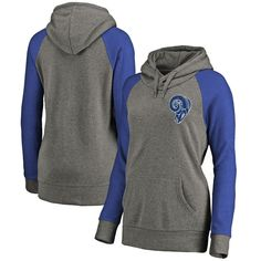 6fd142cc9 Los Angeles Rams NFL Pro Line by Fanatics Branded Women s Plus Sizes  Vintage Lounge Pullover Hoodie - Heathered Gray