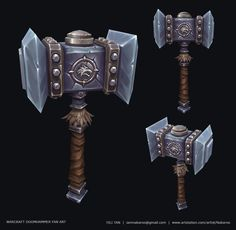 Warcraft Doomhammer Fan Art, Yili Tan on ArtStation at https://www.artstation.com/artwork/warcraft-doomhammer-fan-art