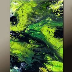 Abstract Art Canvas Painting 18x24 Contemporary Art by wostudios, $69.00