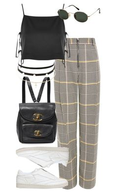 """""""Untitled #3257"""" by bekahtee ❤ liked on Polyvore featuring Topshop, Reebok, Charlotte Russe and Ray-Ban"""