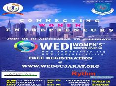 Women Entrepreneurship Day  On 18 November 2017 at L.J. Knowledge Foundation Sarkhej-Sanand Road Ahmedabad from 14:00 hrs to 17:30 hrs. On the theme of 'Connecting Women Entrepreneurs'. Free Registration at: wedgujarat.org #entrepreneurships