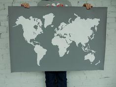 This. Is. Amazing.   Giant Modern World Map Print Poster  24x36  by IScreenYouScreen, $48.00