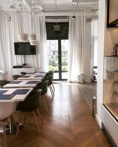 Restaurant Interior Design / projekt bistro Menu bistro warszawa architekt wnętrz siedlce warszawa Dmowska Design architekt Patrycja Dmowska flos aim