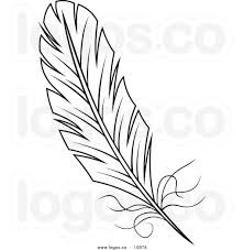 Image result for feather drawing bw