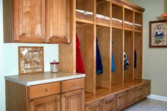 mud room. Everything un its place and a place for everything!
