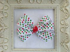 Christmas+Pinwheel+Hair+Clip+Hair+by+sherbetwithsprinkles+on+Etsy,+$3.25