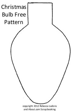 Free Christmas Bulb and Ornament Patterns: Free Christmas Tree Lights Bulb Pattern