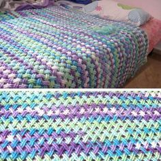 Interweave Cable Stitch (Celtic Weave),  Crochet Afghans - left and right handed [Free Pattern + Video]