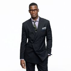 Thinking of wearing this to an upcoming wedding. Ludlow double-breasted peak lapel blazer with double-vented back in Italian wool Suit Fashion, Mens Fashion, Fashion Outfits, Power Dressing, Stylish Men, Double Breasted, J Crew, Suit Jacket, Menswear
