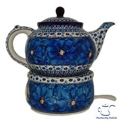 Polish Pottery Teapot (blue pattern)