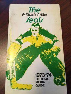 California Golden Seals - 1973-74 Media Guide (Gilles Meloche on cover)