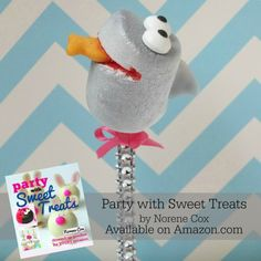 Barbara Corcoran, Shark Tank, Shark pop, marshmallow pop, cute food, summer treat ideas, beach party ideas, Party with Sweet Treats, Norene Cox