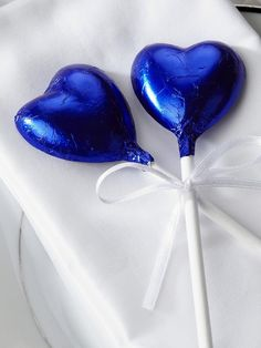 Midnight Blue Chocolate Heart Lollipop the last detail