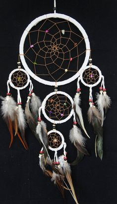 Hey, I found this really awesome Etsy listing at https://www.etsy.com/listing/195034596/large-white-dream-catcher-5-circles-65
