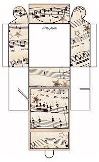 ArtbyJean - Vintage Sheet Music: Set 003 - Scheda Vintage musicale gratuito Clipart Biege Tan - stampabili Confezioni Regalo