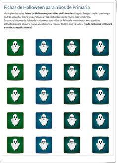 Fichas de inglés de Halloween para niños de Primaria (Mundoprimaria.com)