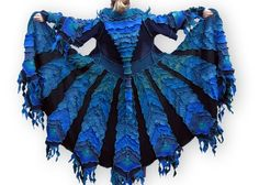 The Enchanted Peacock - recycled sweater coat from Green Oak Creations.