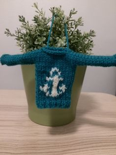 Mini Sweater Anchor Man Edition by SeasickKnits on Etsy