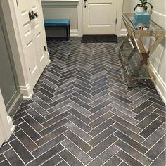 A great looking and low maintenance #herringbone #tile #floor in this #mudroom - image shared via @saranatile / #tiletuesday #flooring #floors #ihavethisthingwithfloors #pattern #grey #tiles #tiled #tiling #interior #interiors #interiordesign #interiordesigner #idcdesigners #instadecor #homedesign #homedecor #instahome #tileaddiction #chevron #tiler #tilework #interiorinspiration #floortiles by tiletuesday