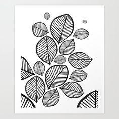 Leaf Art Art Print by danhobdayart Contemporary Art Prints, Black And White Wall Art, Leaf Art, From The Ground Up, Buy Frames, Printable Wall Art, Printing Process, Home Art, Art Art