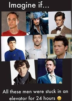 Not that they'd end up stuck for that long, they'd obviously figure a way out. Just too much intelligence for one elevator, even if it was just one of them. This is hilarious, I'd most like to see Spock and Tony Stark interact :)