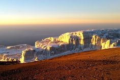 Sunrise over Rebmann Glacier, nearing the summit of Kilimanjaro. Thanks to Tusker Alum Tom Gancarz for sharing this pic from his Jan. '15 climb!