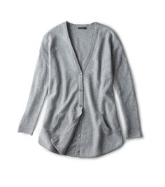 grey cashmere cardigan, a gift for those who keep it simple