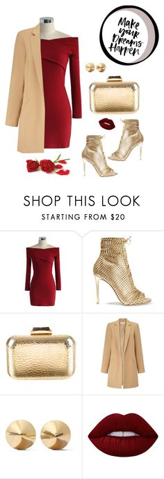 """""""women's day"""" by nylover-998 ❤ liked on Polyvore featuring Chicwish, Gianvito Rossi, KOTUR, Miss Selfridge, Eddie Borgo, Lime Crime and reddress"""
