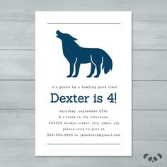 Wolf Birthday Party Invitation    Wolf by PandafunkCreations