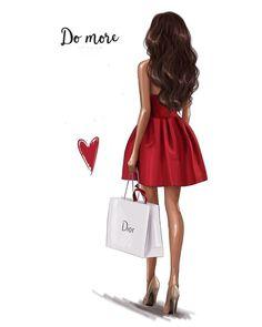 # Girl # illustration # increased # I draw Vogue girl? Foto Fashion, Fashion Art, Trendy Fashion, Girl Fashion, Fashion Design, Fashion Quotes, Fashion Sketches, Fashion Illustrations, Fashion Illustration Chanel
