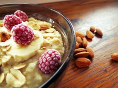 peanutbuttermonster: Domowy budyń orzechowy Acai Bowl, Pudding, Breakfast, Food, Acai Berry Bowl, Morning Coffee, Custard Pudding, Essen, Puddings