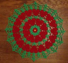 Free pattern – Crochet_millan's christmas cloth/coaster.