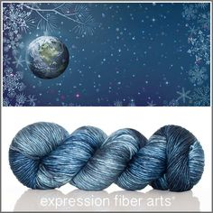 Peace on Earth limited edition Pearlescent Worsted Yarn by Expression Fiber Arts