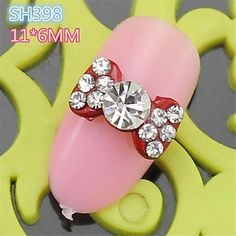 QINF 10PCS SH398 Classical Design Red Color Bow Tie Alloy nail art DIY Butterfly Nail beauty Nail Decoration ** Visit the image link more details.