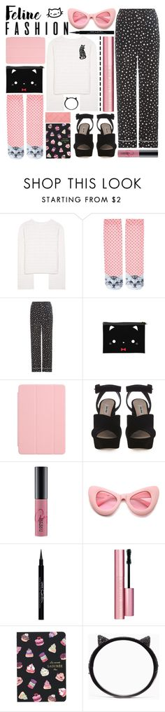 """all you need is cat"" by foundlostme ❤ liked on Polyvore featuring See by Chloé, Accessorize, Dolce&Gabbana, Apple, Miu Miu, MAC Cosmetics, ZeroUV, Givenchy, Too Faced Cosmetics and Ladurée"